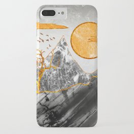 Marble mountains and the fire tree iPhone Case