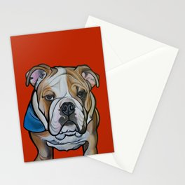 Johnny the English Bulldog Stationery Cards