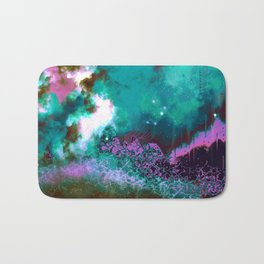 """""""The Crystal Forest"""" (Pink/Teal) Digital Painting // Fine Art Print Bath Mat"""
