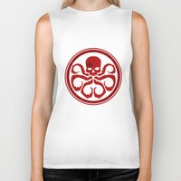 hydra Biker Tanks featuring Hail Hydra! by livinginamovie