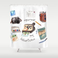 Document Your Adventures Shower Curtain