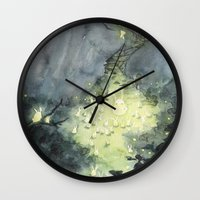 the lights Wall Clocks featuring Lights by Paola Cocchetto