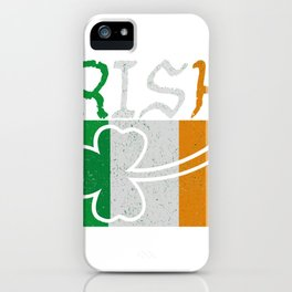 Irish Flag Vintage St Patricks Day iPhone Case
