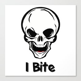 I bite Canvas Print