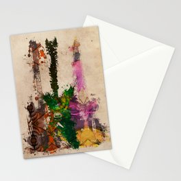 guitars 3 art Stationery Cards