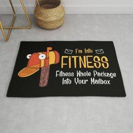 I'm Into Fitness - Funny Mail Carrier Postal Worker Illustration Rug