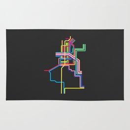 kolkata metro map Rug