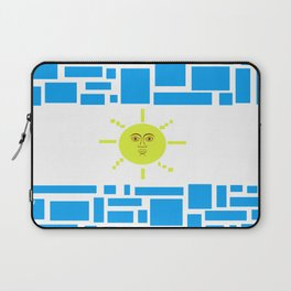 Argentina Flag Geometric Graphic Design Modern Art Laptop Sleeve