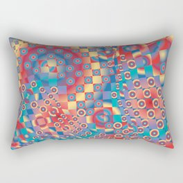 retro psychedelic Rectangular Pillow