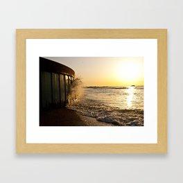 Narragansett Town Beach Framed Art Print