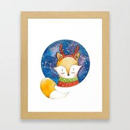Silent Night Foxy Framed Art Print