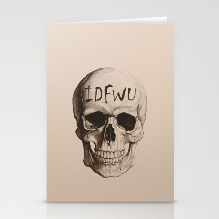 IDFWU Skull Stationery Cards