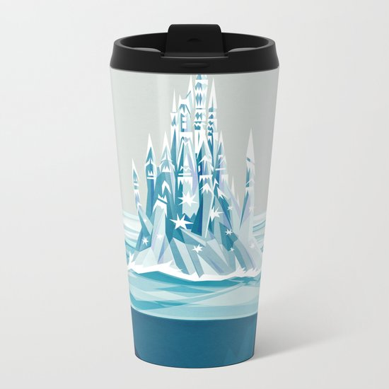 Iceberg castle Metal Travel Mug