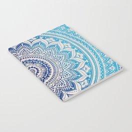 Teal And Aqua Lace Mandala Notebook