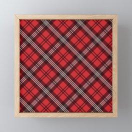 Scottish Plaid-Red Framed Mini Art Print
