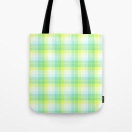 Summer Plaid 8 Tote Bag