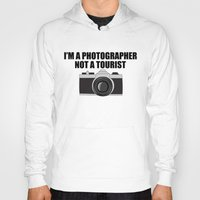 photographer Hoodies featuring Photographer Tourist Funny by bitobots