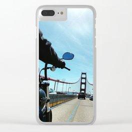 Bikes and Bridges Clear iPhone Case