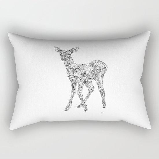 Leafy Deer Rectangular Pillow