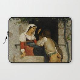 "William-Adolphe Bouguereau ""Italian lovers"" Laptop Sleeve"