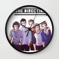 one direction Wall Clocks featuring One Direction by Nowhere Little Girl