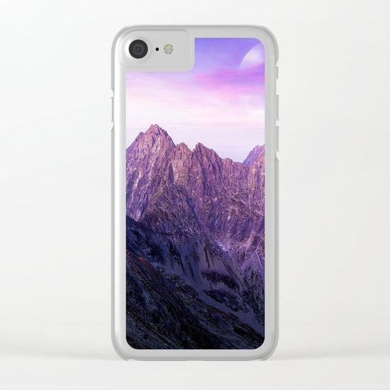 Purple Range Clear iPhone Case
