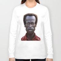 miles davis Long Sleeve T-shirts featuring Celebrity Sunday ~ Miles Dewey Davis by rob art | illustration