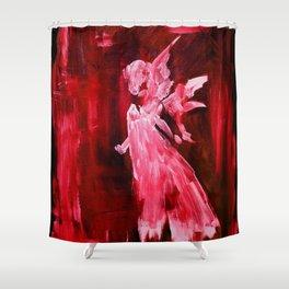 Guardian Angel - Scarlett Red Shower Curtain