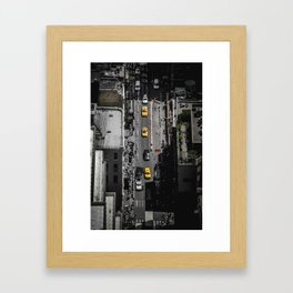 Yellow Cab from Above - Original #society6 exclusive Framed Art Print