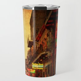 Bourbon Street Grunge Travel Mug