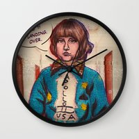 kubrick Wall Clocks featuring *Hiss* *Crakle* Mr. Kubrick... *Crakle* by LeKolora