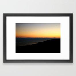 Sunset over Mountains  Framed Art Print