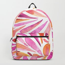 Symmetric drops - pink and orange Backpack