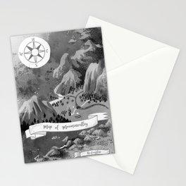 Moominvalley Map interpretation (Black & White) Stationery Cards