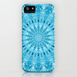 Mary Jane Mandala (blue) iPhone Case