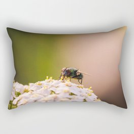 A Fly Sitting On a Flower Rectangular Pillow