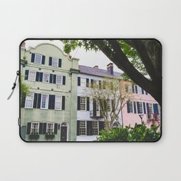 Rainbow Row in Charleston, SC Laptop Sleeve