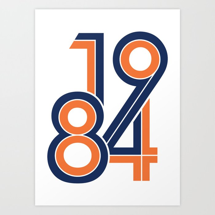 buy online 18214 74a07 1984 in Detroit Tigers Colors Art Print