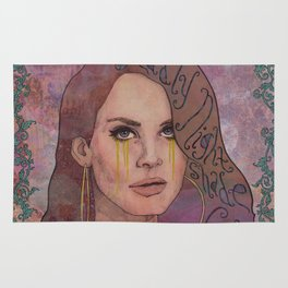 Lana - Deadly Nightshade Crying Tears Of Gold Rug