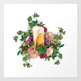 Beer Bouquet Art Print