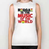 reggae Biker Tanks featuring Reggae Music by Ahfimi Brands