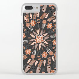 Floral whirl Clear iPhone Case