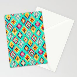 Bohemian Ikat Painting Stationery Cards