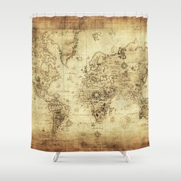 Old World map Shower Curtain