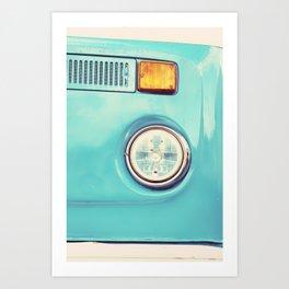 Turquoise Set Driver Art Print
