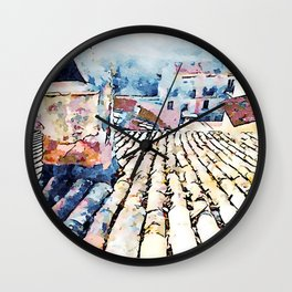 Roof and chimney Wall Clock