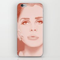 lana iPhone & iPod Skins featuring LANA by Itxaso Beistegui Illustrations