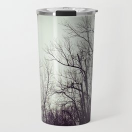 Tree branches in the sky Travel Mug
