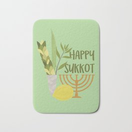 Sukkot Shalom Best Wishes for the Sukkot Holiday Bath Mat