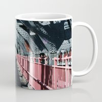 rileigh smirl Mugs featuring Williamsburg Bridge by Rileigh Smirl